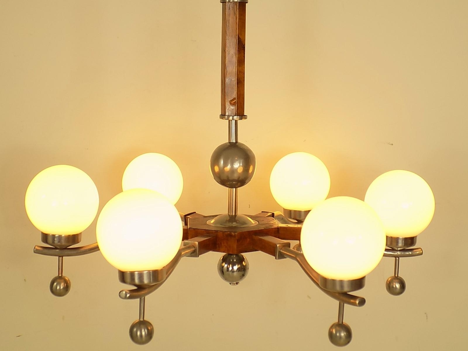 Newest Art Deco Chandelier, 1930S For Sale At Pamono Inside Art Deco Chandelier (Gallery 2 of 20)