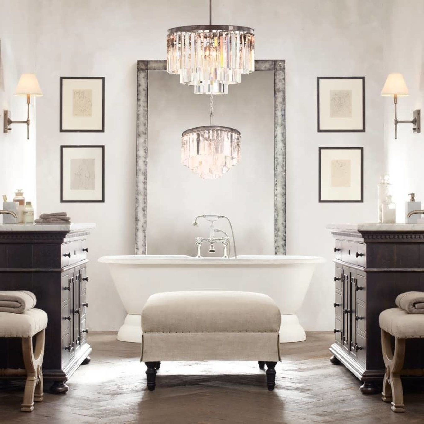 Newest Chandelier Bathroom Lighting Inside Modern Bathroom Lighting (Gallery 9 of 20)