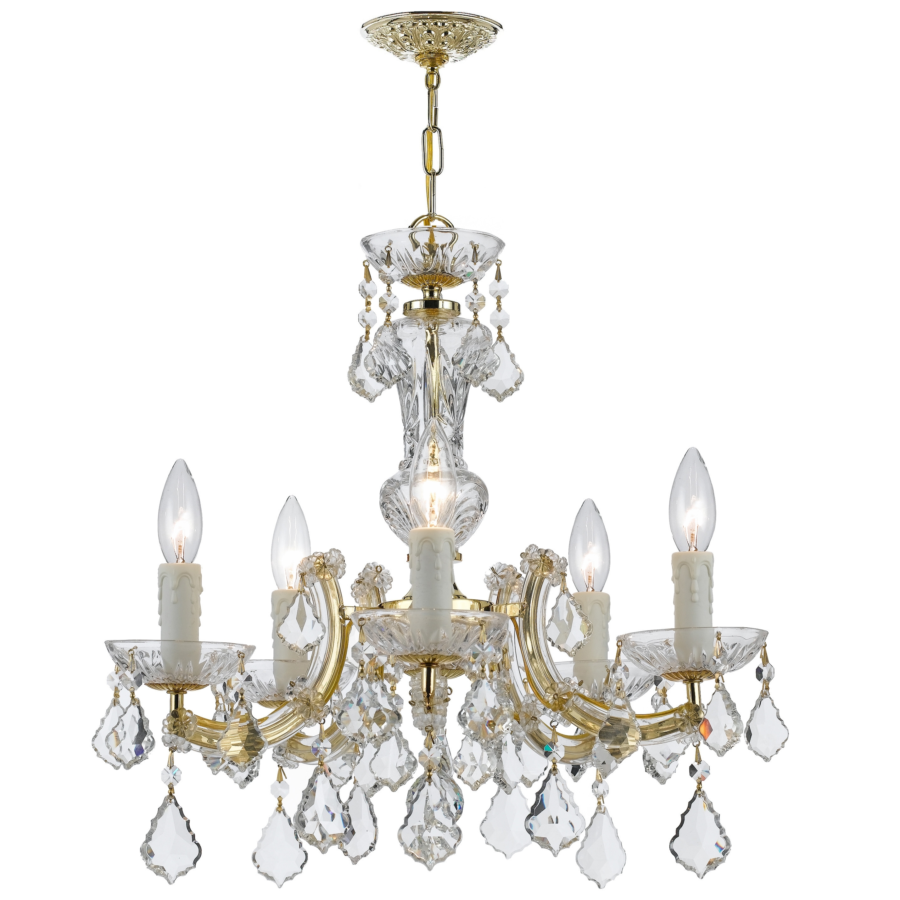 Newest Chandeliers : Maria Theresa Chandelier Elegant Endon Lighting 2 Within Endon Lighting Chandeliers (Gallery 13 of 20)