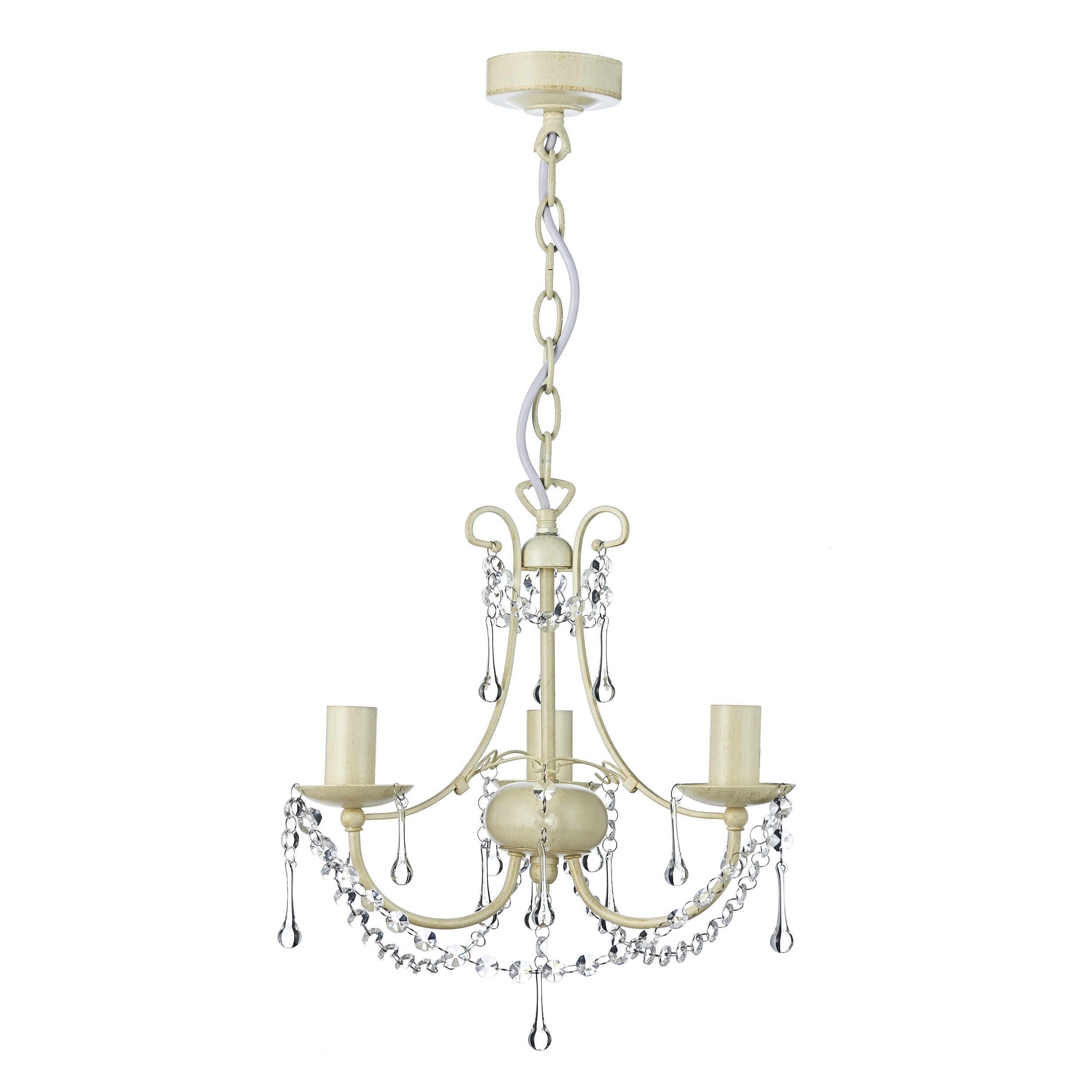 Newest Chella Cream 3 Light Chandelier (View 16 of 20)