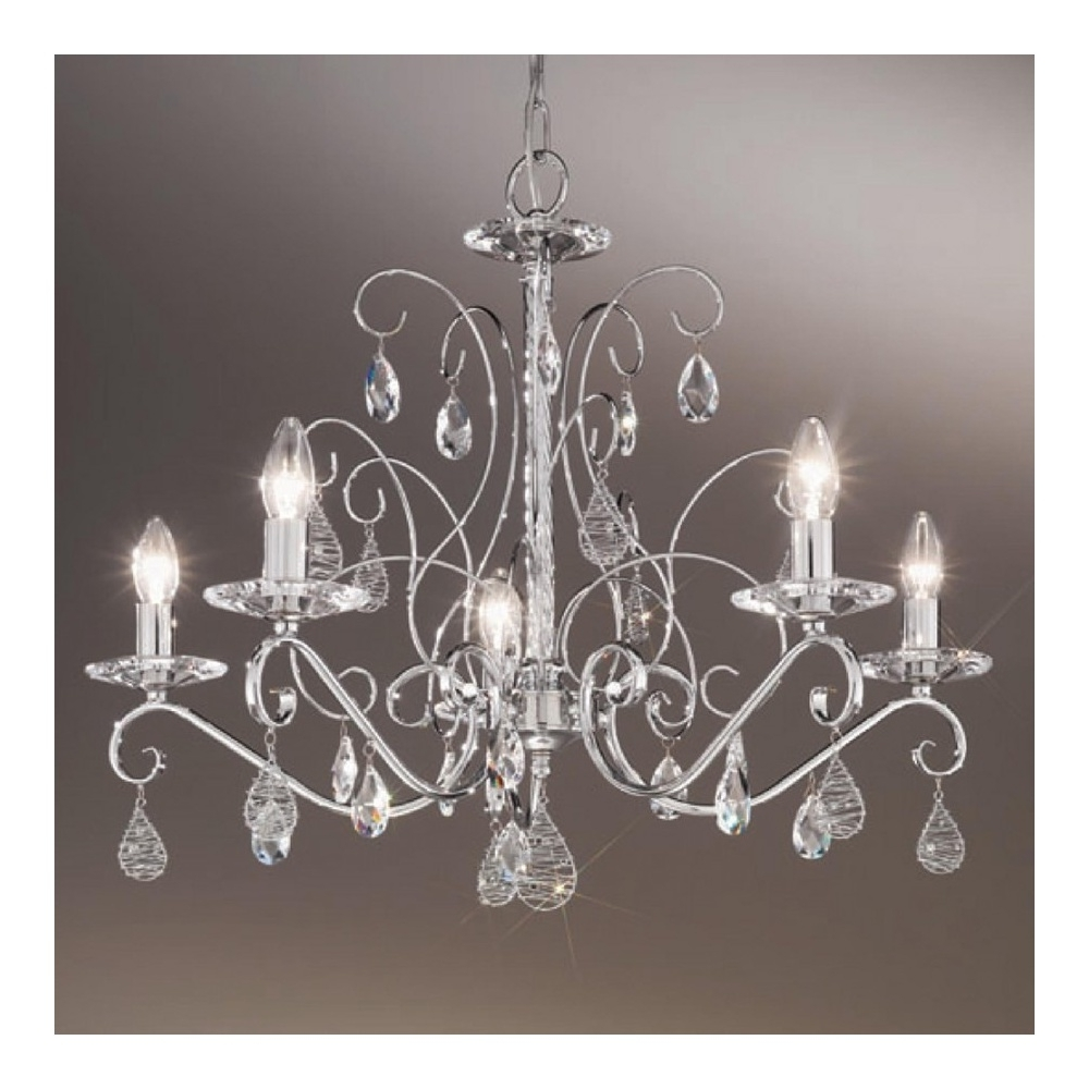 Newest Chrome Crystal Chandelier In Buy Swarovski Crystal Chandeliers From Kolarz (View 6 of 20)
