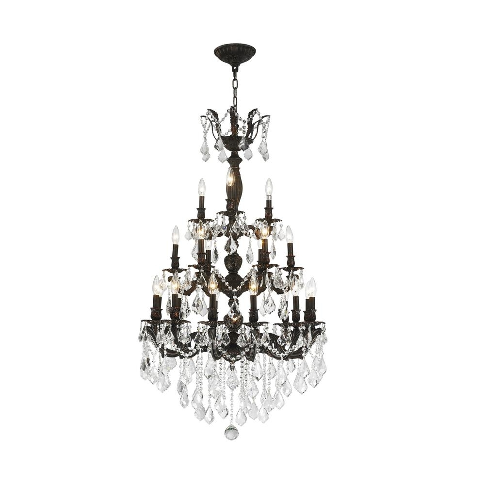 Newest Flemish Brass Chandeliers With Worldwide Lighting Versailles 21 Light Flemish Brass Chandelier With (View 3 of 20)