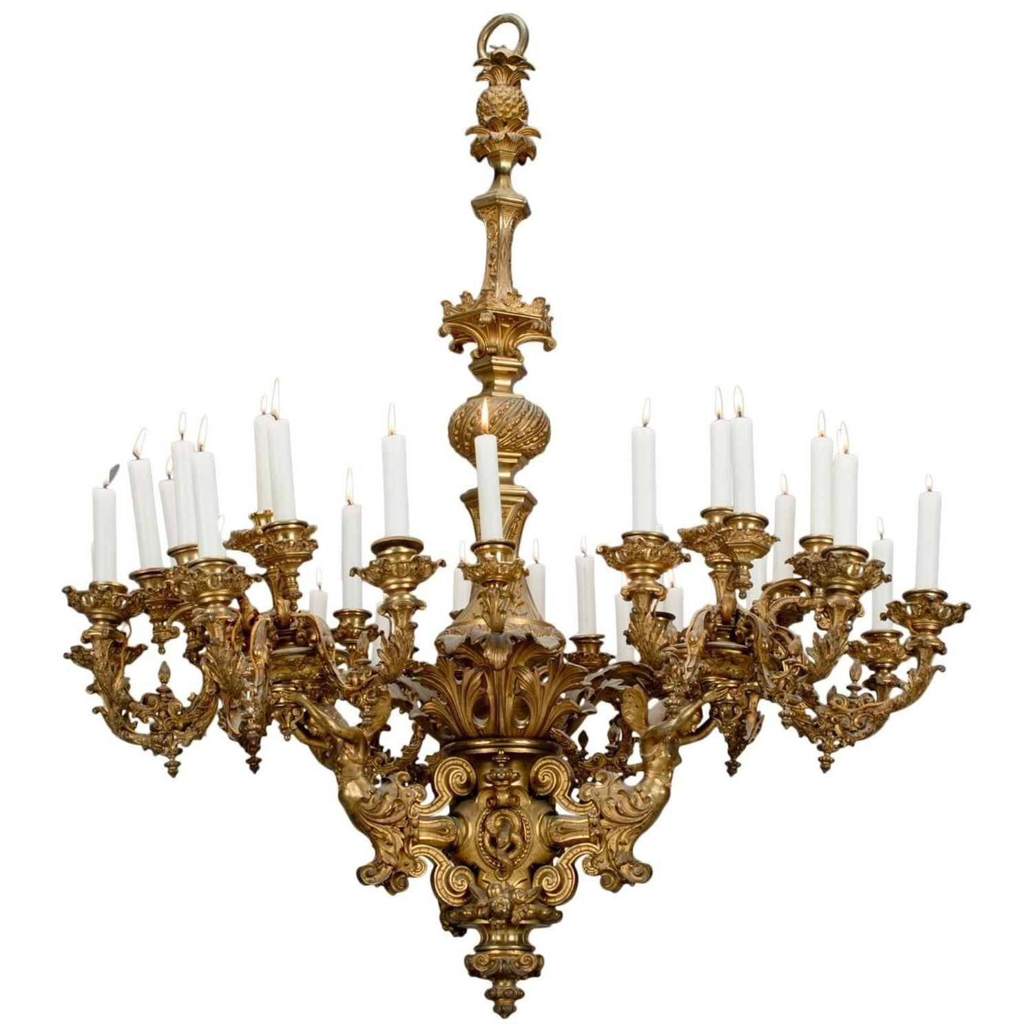 Newest French Bronze Chandelier Throughout Napoleon Iii Thirty Three Light Chandelier (View 18 of 20)
