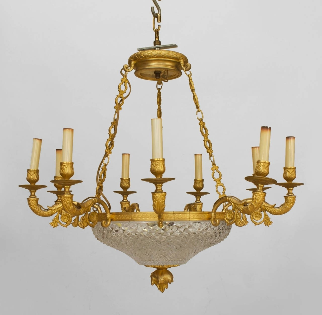 Newest French Bronze Chandelier With Regard To Late 19Th C. French Empire Style Gilt Bronze And Crystal Chandelier (Gallery 11 of 20)