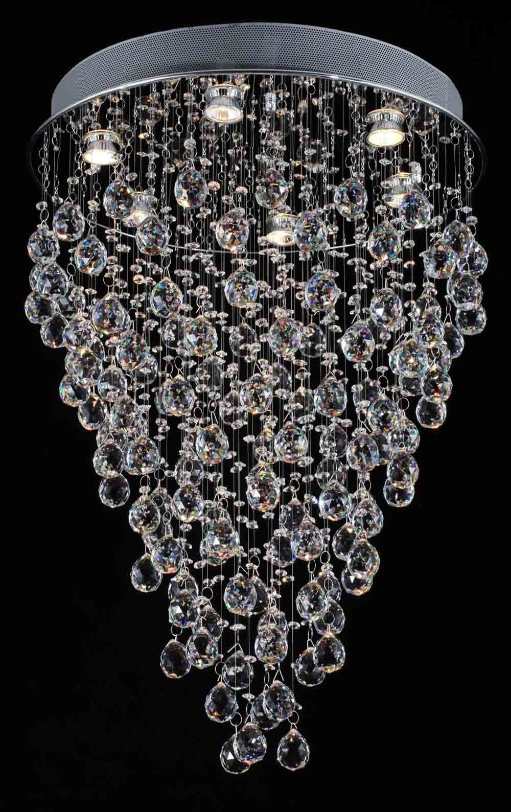 "Newest G902 1115/6 Gallery Modern & Contemporary Modern Chandelier ""rain Throughout Contemporary Modern Chandeliers (View 14 of 20)"