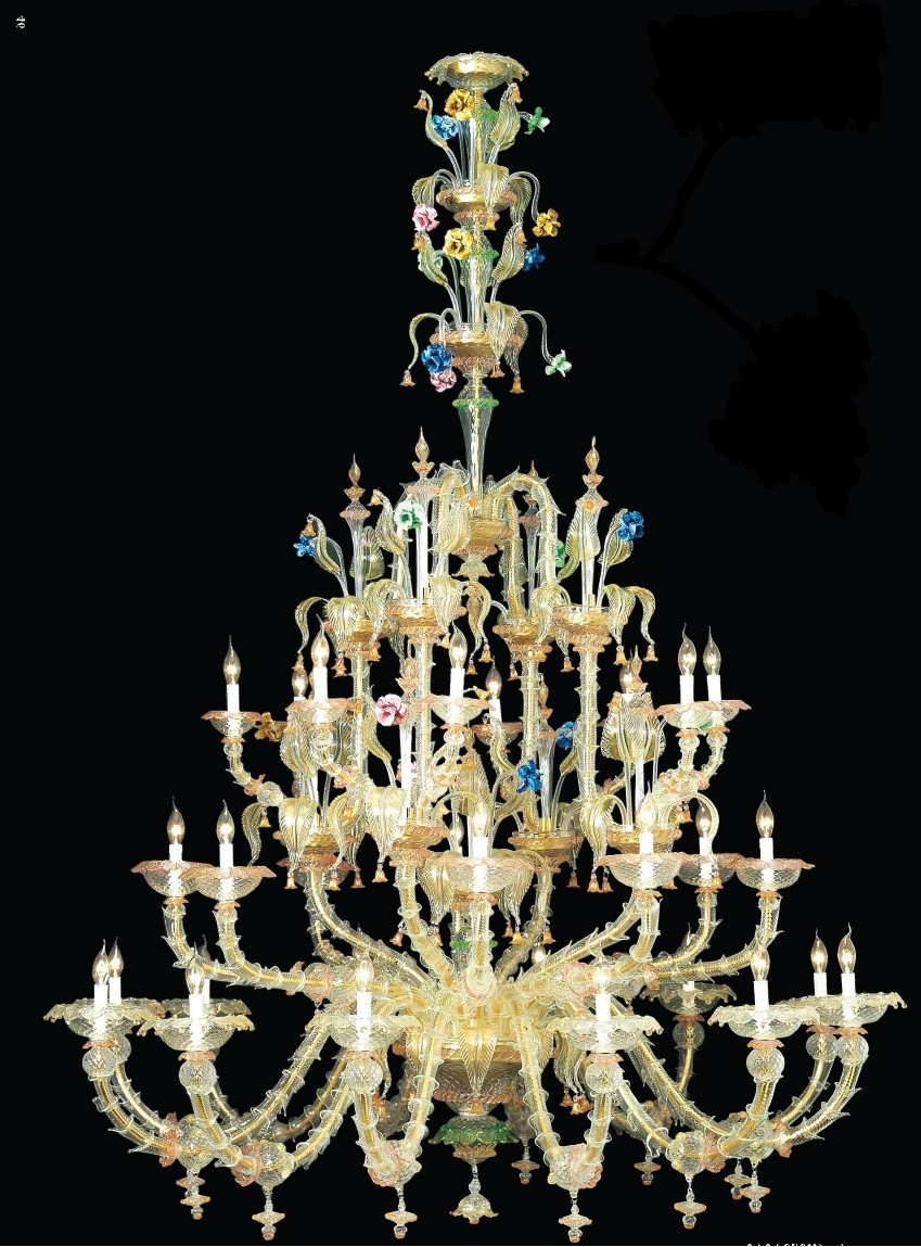 Newest Glass Chandelier : Beautiful Murano Glass Chandelier Murano With Regard To Glass Chandeliers (View 15 of 20)