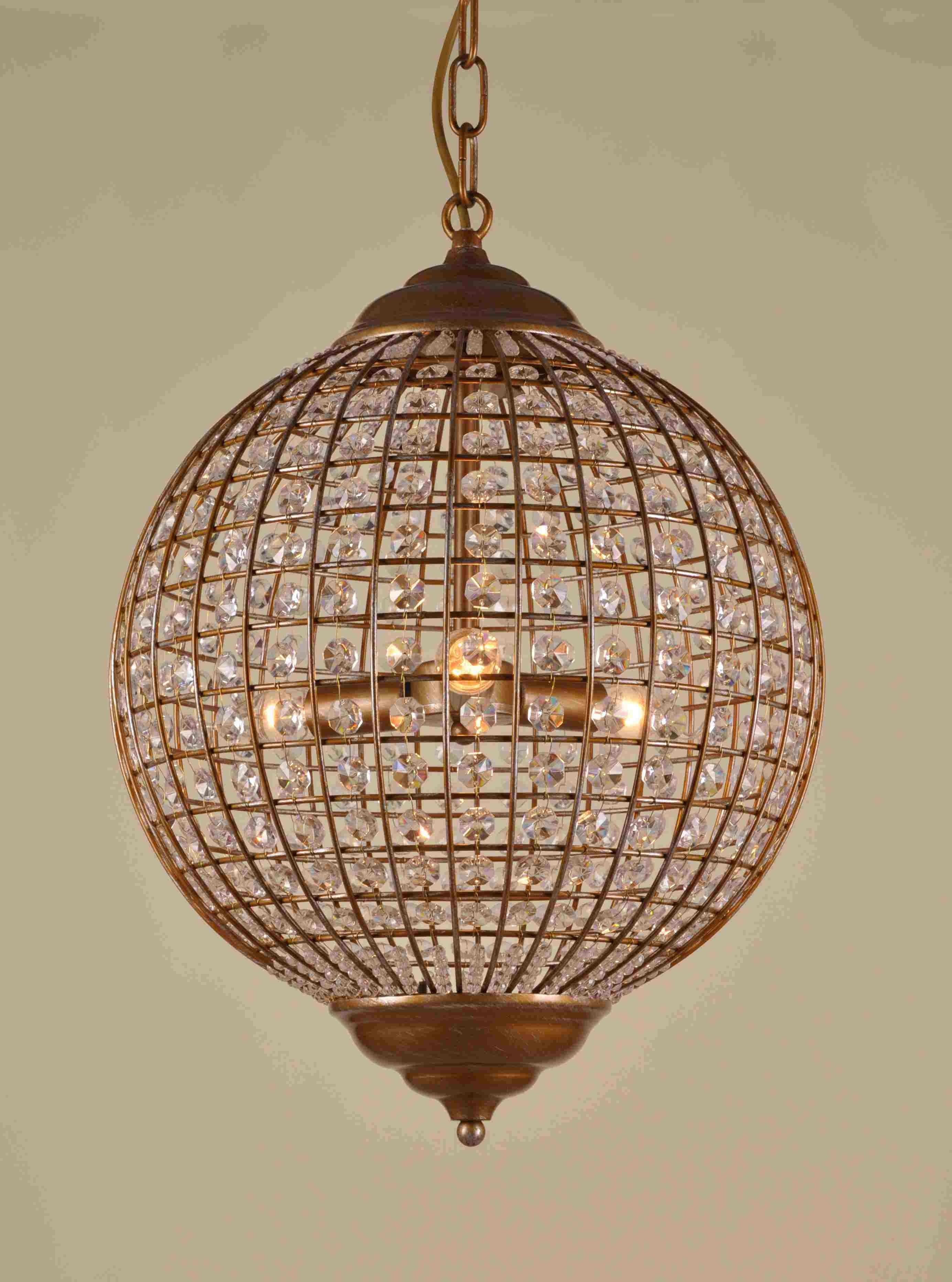 Newest Globe Chandeliers Within Chandeliers Design : Marvelous Globe Chandelier Pendant Light (Gallery 19 of 20)