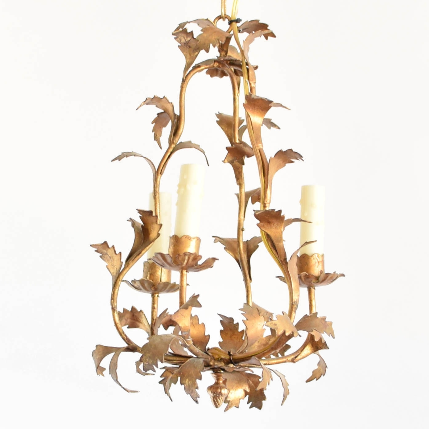 Newest Gold Leaf Chandelier Within Italian Gold Leaf Chandelier – The Big Chandelier (Gallery 1 of 20)