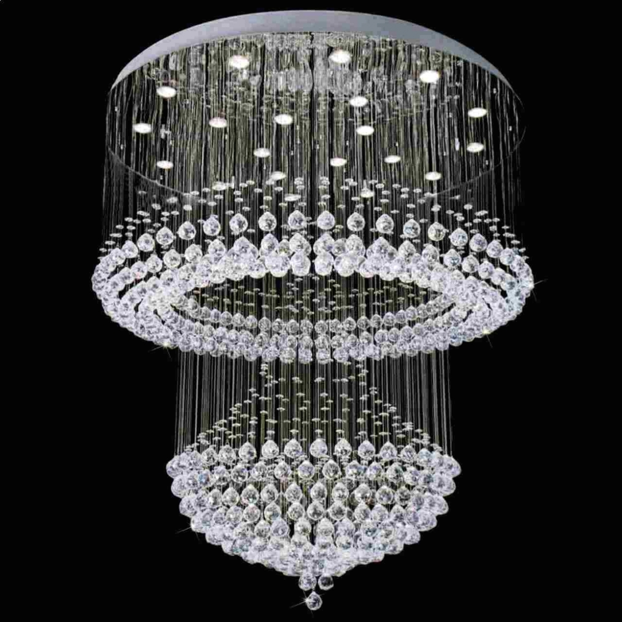Newest Home Decor: Chandeliers ~ Crystal Chandelier Modern Fancy Chandelier Throughout Big Crystal Chandelier (Gallery 16 of 20)