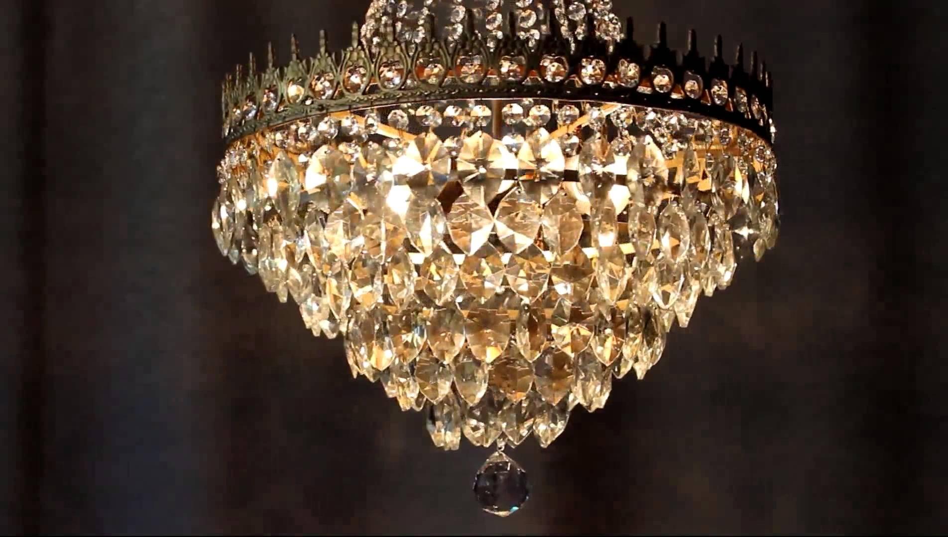 Newest Huge Antique Luster Crystal Candelabra Chandelier Lighting Brass Old Regarding Cheap Big Chandeliers (View 15 of 20)