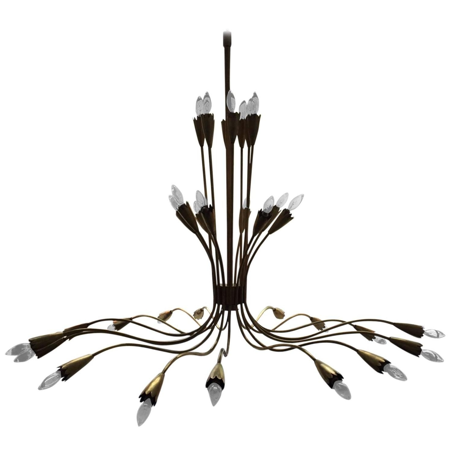 Newest Italian Chandelier Style In Grand Italian Brass Spider Chandelier, In The Style Of Arredoluce At (View 17 of 20)