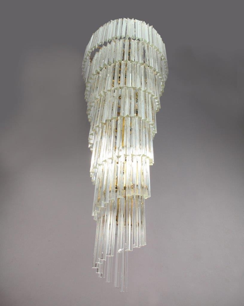 Newest Italian Chandeliers Contemporary Within Mid Century Modern Italian Spiral Chandelier From Venini, 1950S For (View 17 of 20)
