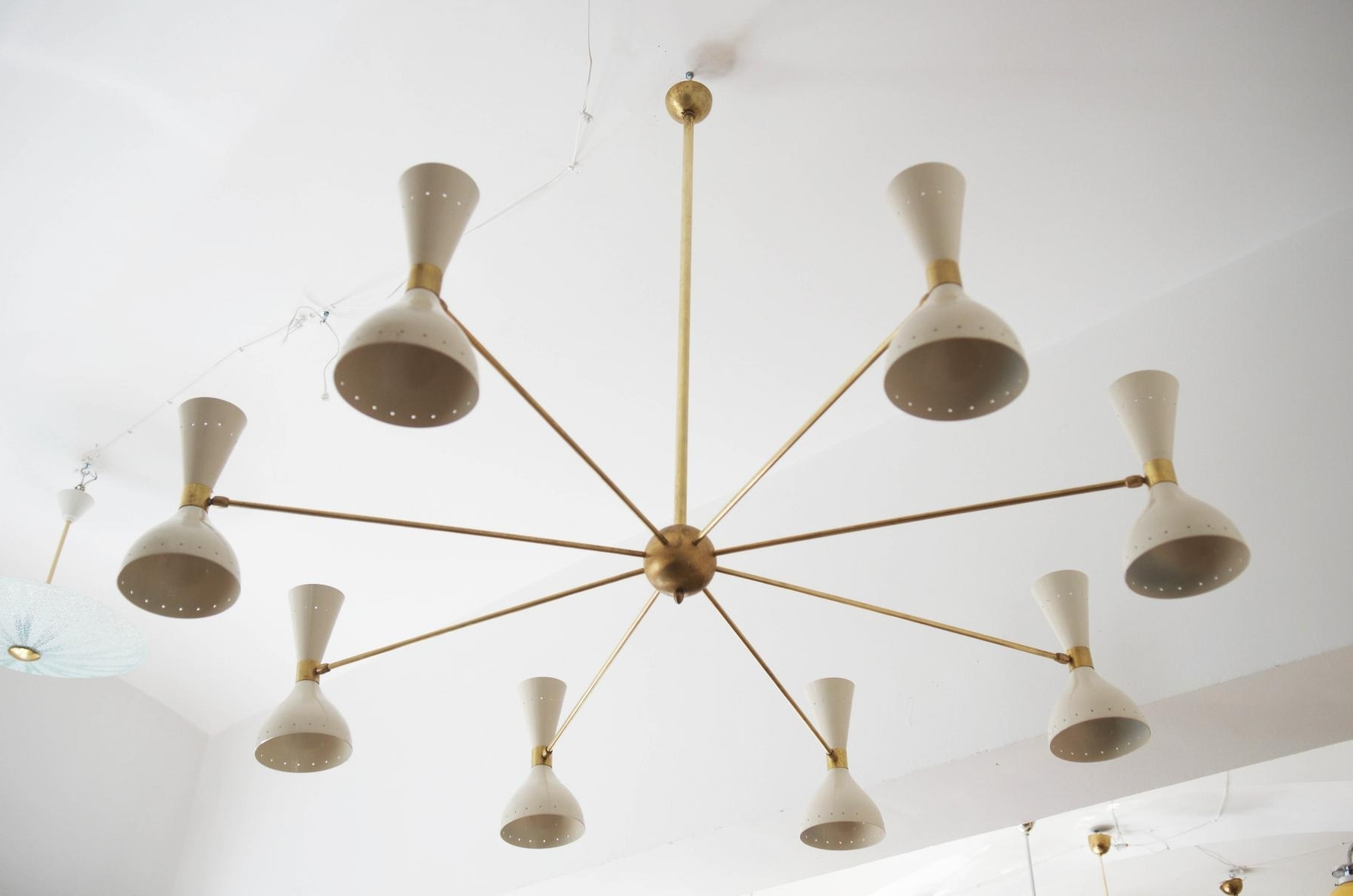 Newest Large Brass Chandelier With Regard To Mid Century Large Brass Chandelier, 1950S For Sale At Pamono (Gallery 2 of 20)
