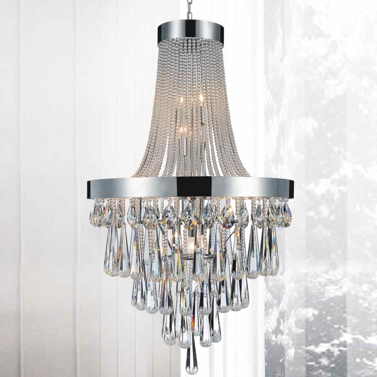 """Newest Large Chandeliers Modern For Brizzo Lighting Stores. 52"""" Liberale Modern Crystal Large Foyer (Gallery 5 of 20)"""