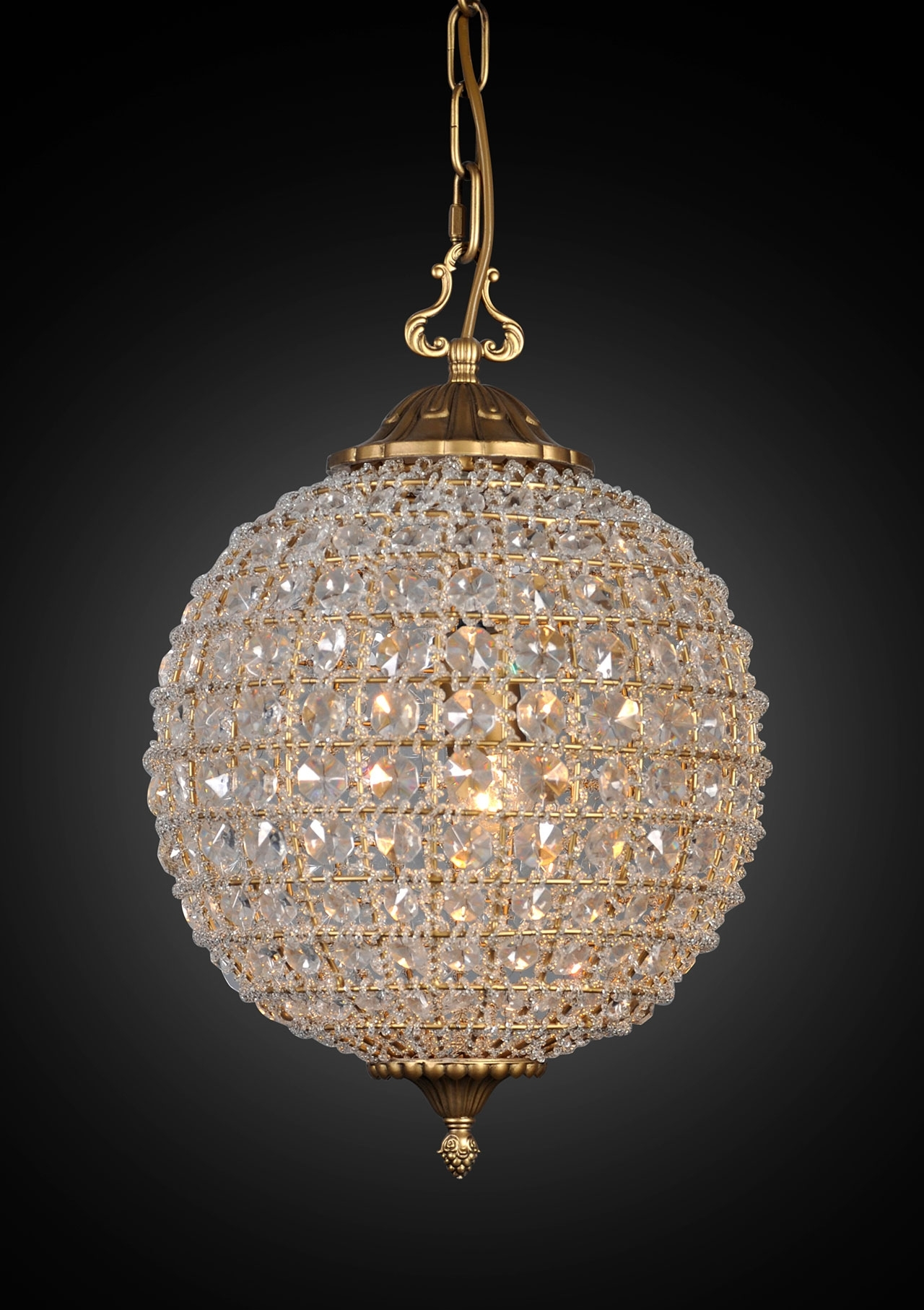 Newest Large Globe Chandelier Intended For Chandeliers Design : Wonderful Crystal Globe Chandelier Ball Large (View 15 of 20)