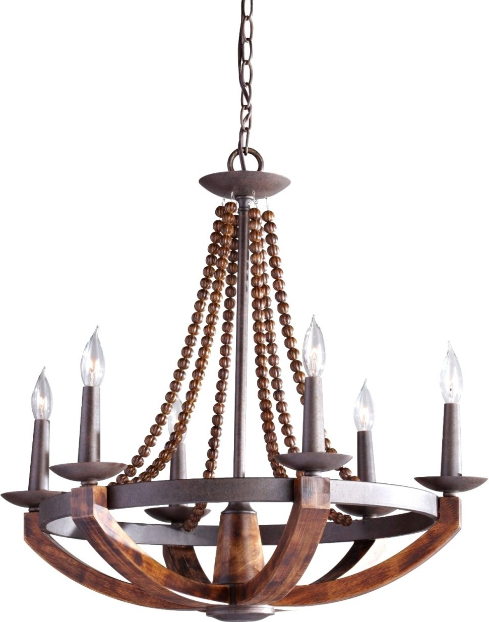 Newest Light : Large Rustic Chandelier Lighting With Best Wood And Metal Within Metal Ball Candle Chandeliers (View 15 of 20)