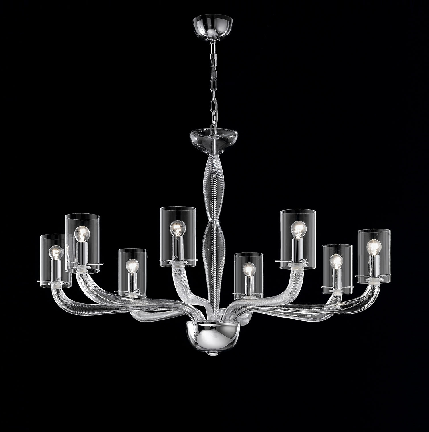 Newest Light : Modern Glass Chandelier Lighting Beautiful Italian Inside Modern Glass Chandeliers (View 13 of 20)