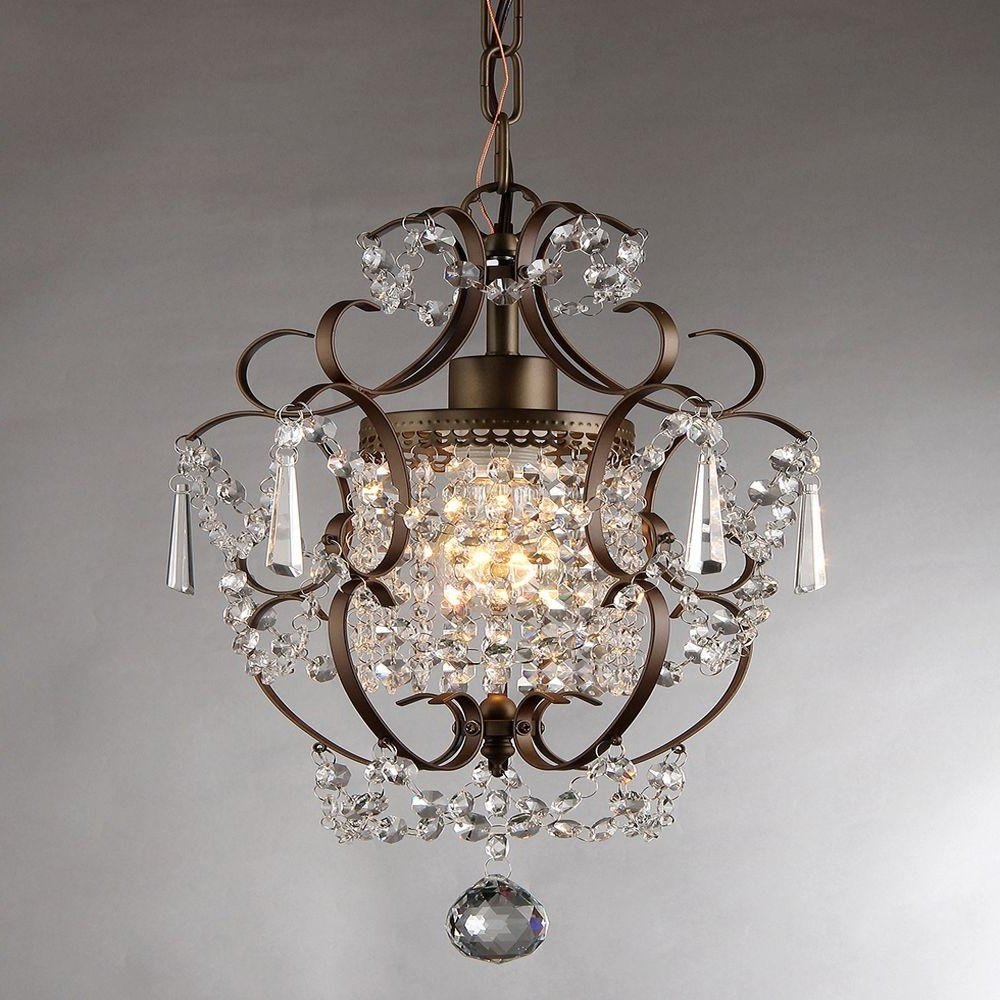 Newest Paige Crystal Chandelier Pottery Barn For Bronze And Idea 15 Pertaining To Small Bronze Chandelier (View 14 of 20)