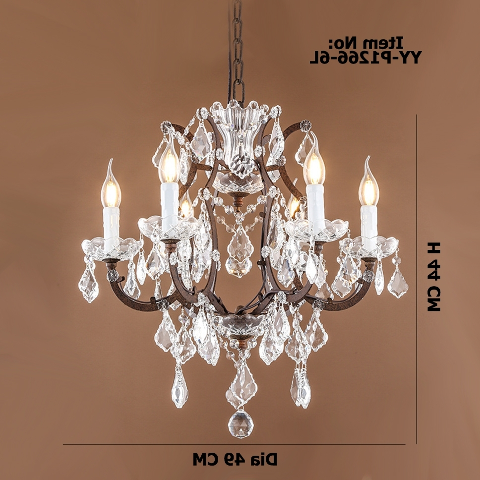 Newest Retro Chandeliers Throughout Retro Antique Crystal Drops Chandeliers/large French American Empire (View 14 of 20)
