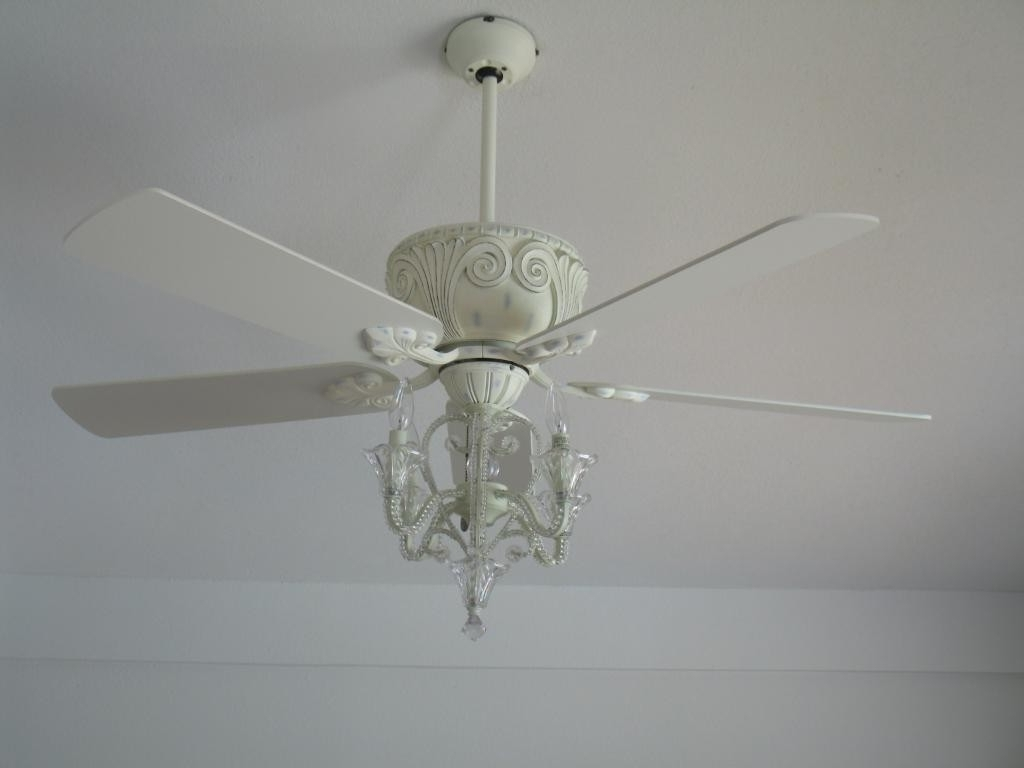 Newest White Ceiling Fan With Chandelier Light Kit • Ceiling Lights Inside Chandelier Light Fixture For Ceiling Fan (View 17 of 20)