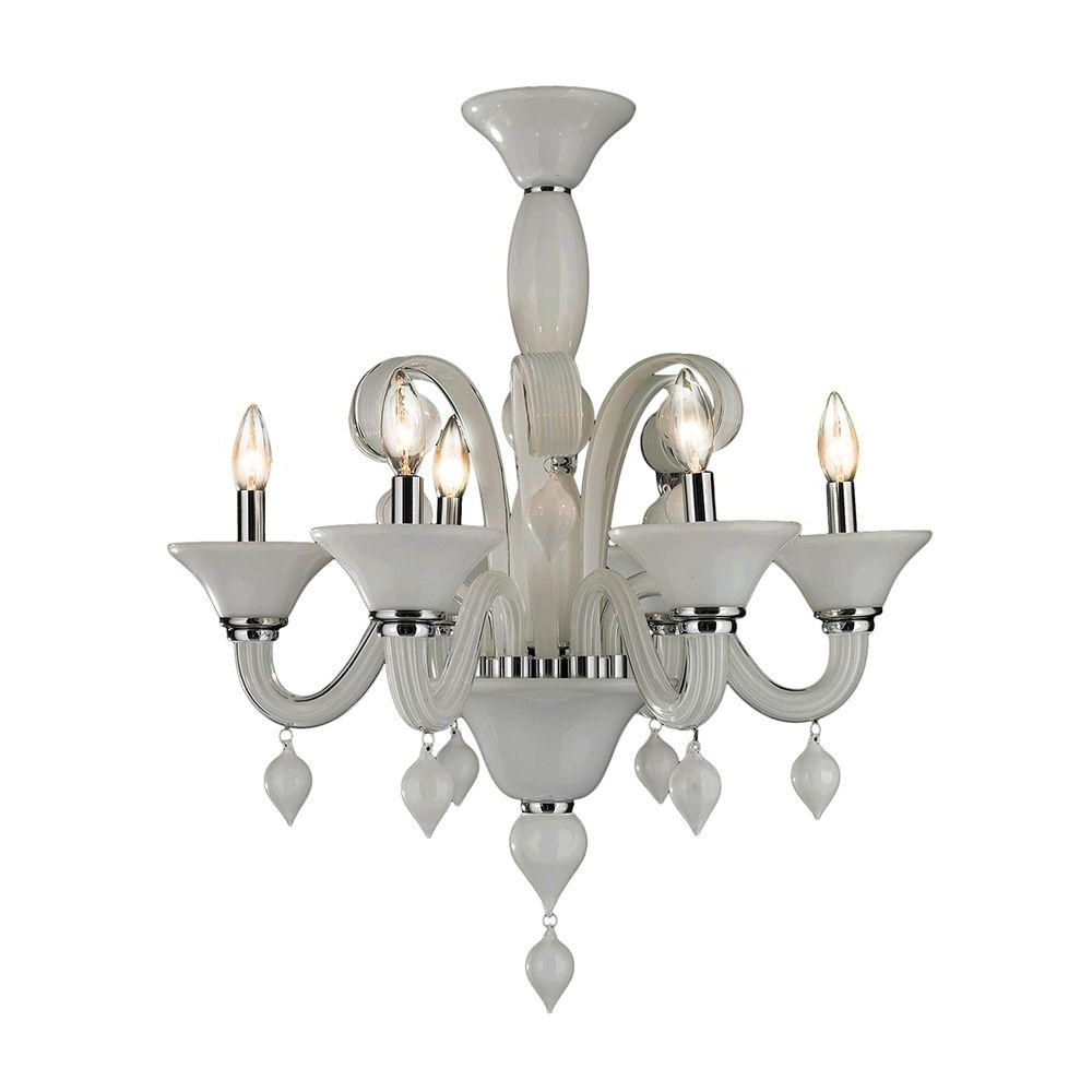 Newest Worldwide Lighting Murano Venetian Style 6 Light Polished Chrome For Chrome And Glass Chandeliers (View 6 of 20)