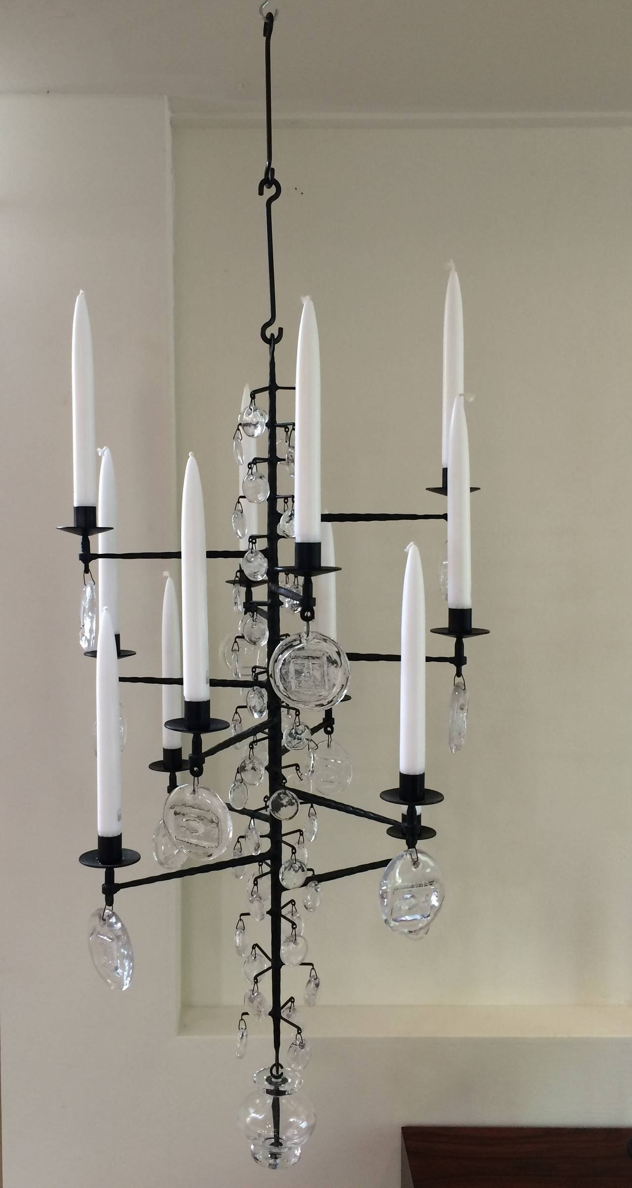 Newest Wrought Iron And Clear Glass 12 Arm Chandeliererik Hoglund, Boda Regarding Cast Iron Chandelier (View 18 of 20)