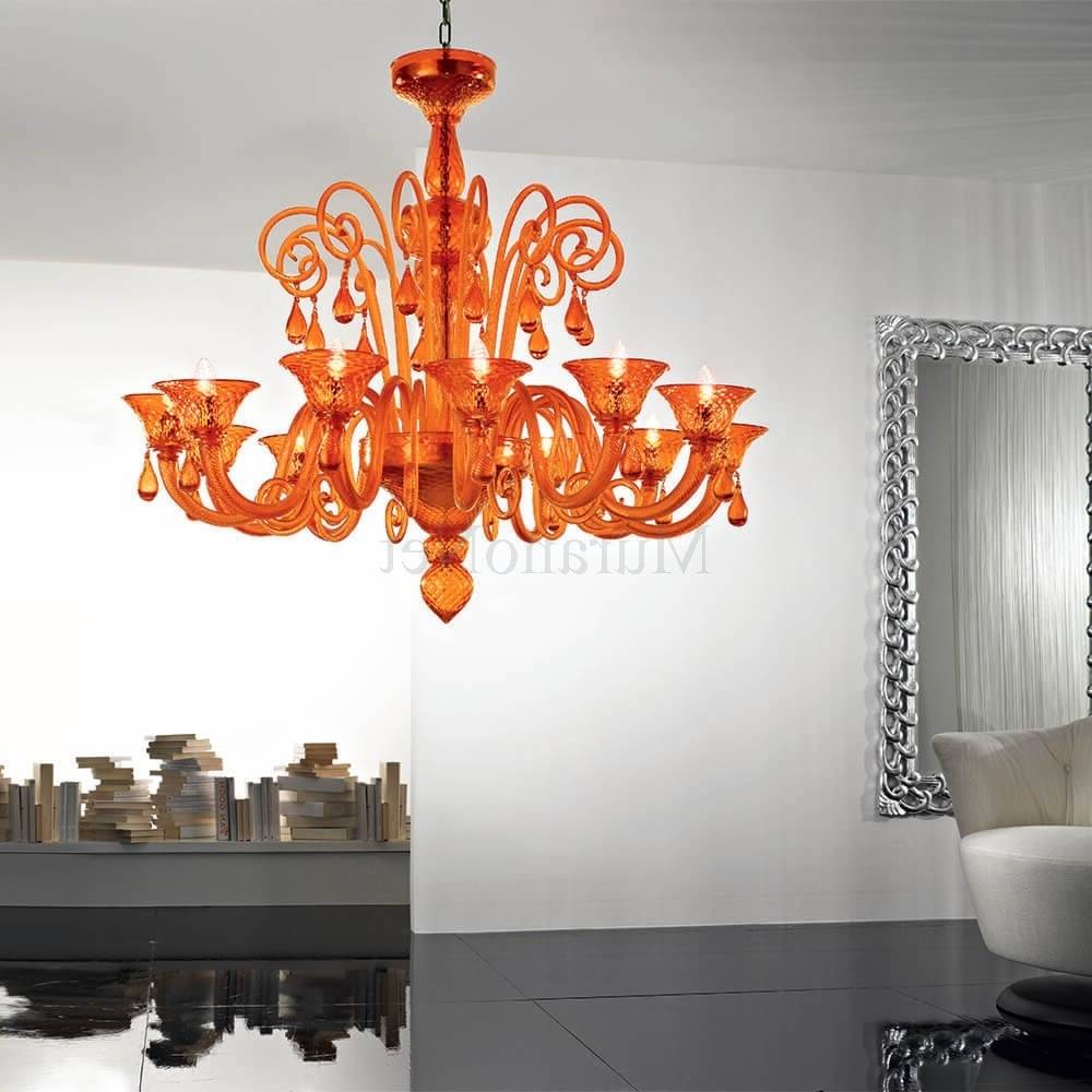 Nuvola 12 Lights Chandelier In Murano Glass (Gallery 19 of 20)