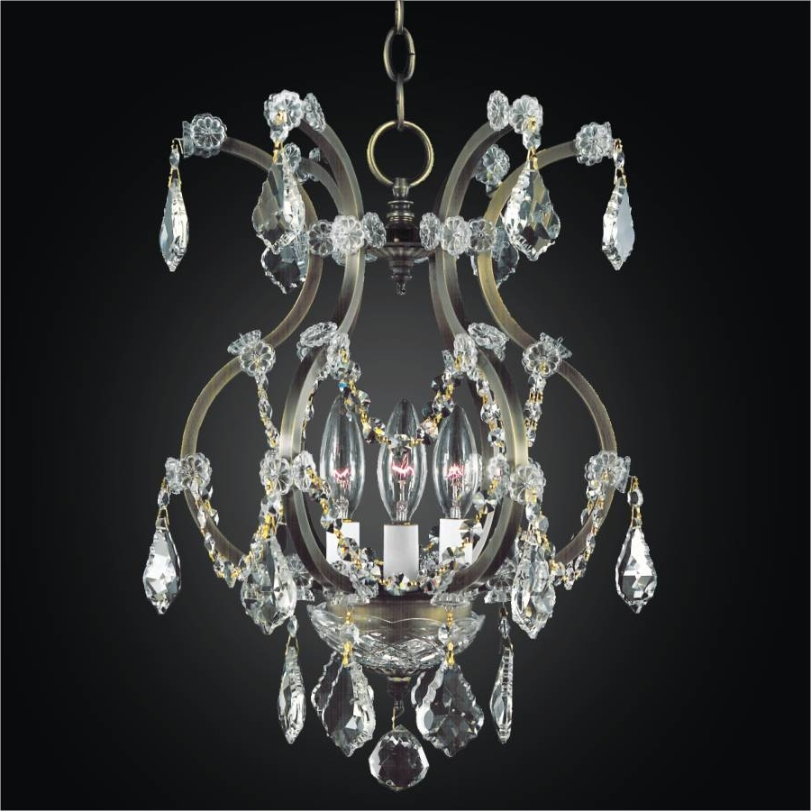 Old World Iron 543 – Glow Throughout 2018 3 Light Crystal Chandeliers (View 18 of 20)