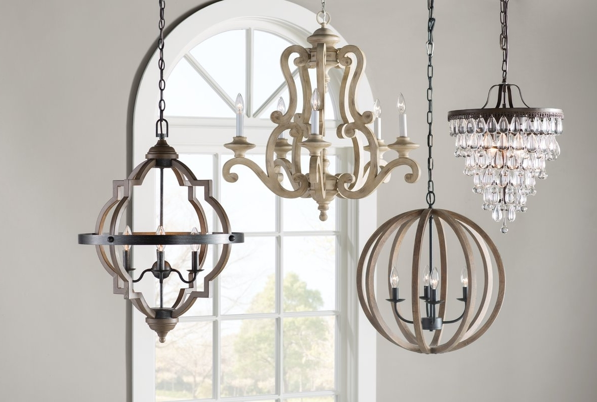 One Allium Way Outland 4 Light Crystal Chandelier & Reviews (View 11 of 20)