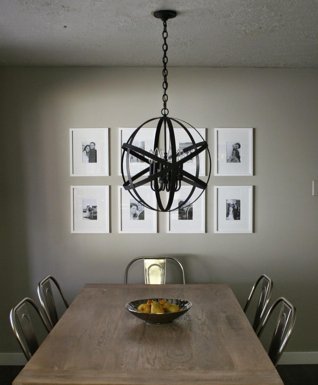 Orb Chandeliers Throughout Most Current Andrea West Design Blog: Diy Designer Black Orb Chandelier (View 11 of 20)