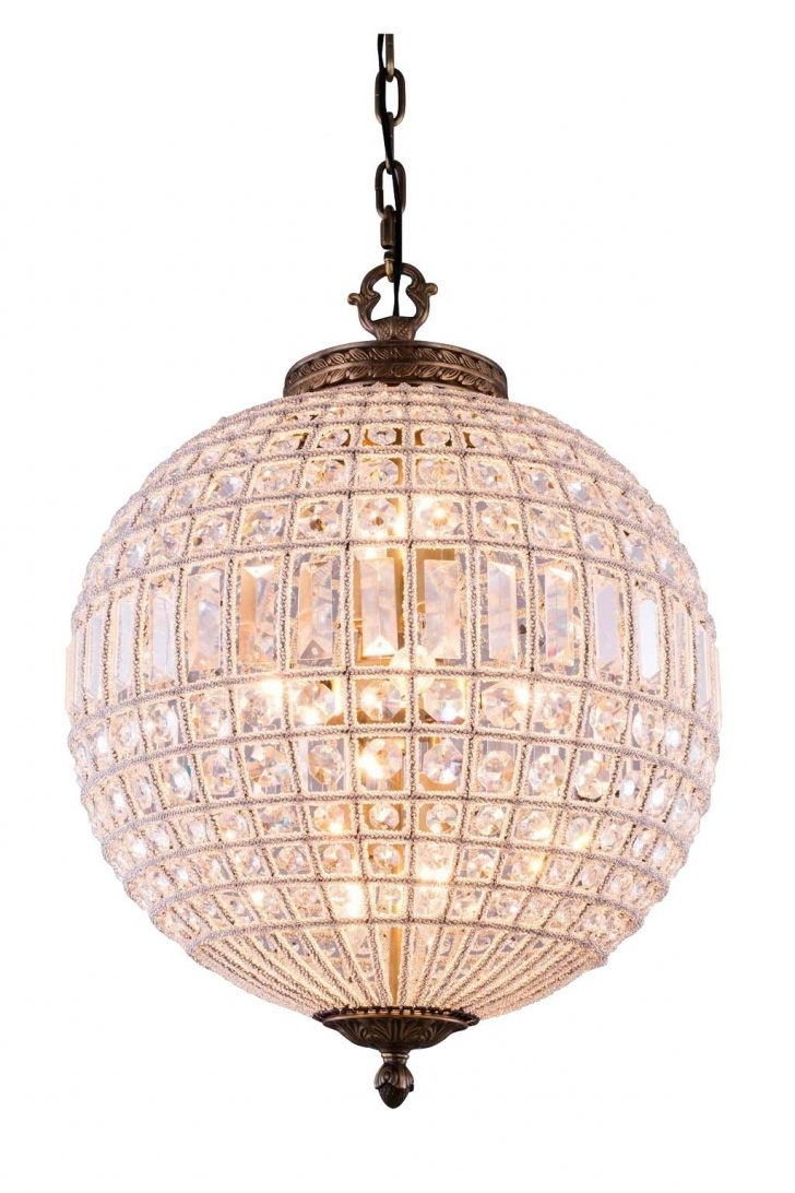 Pendant Lighting Ideas Spectacular Crystal Ball Light Beautiful With Regard To Well Known Globe Crystal Chandelier (View 16 of 20)