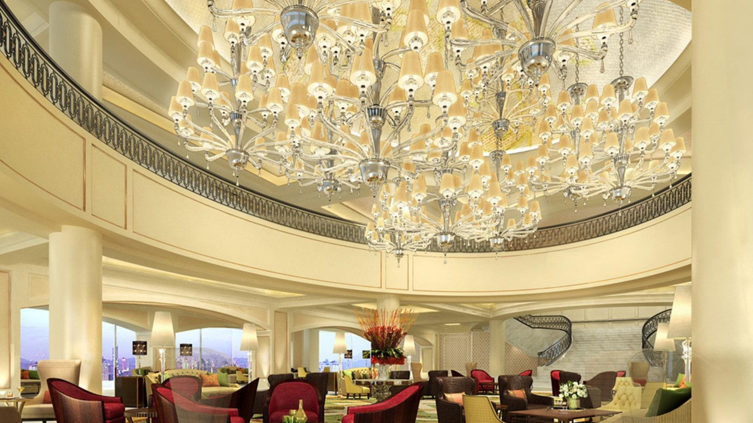 Perfect Chandeliers For Luxurious Hotels Pertaining To Most Recent Ballroom Chandeliers (View 14 of 20)