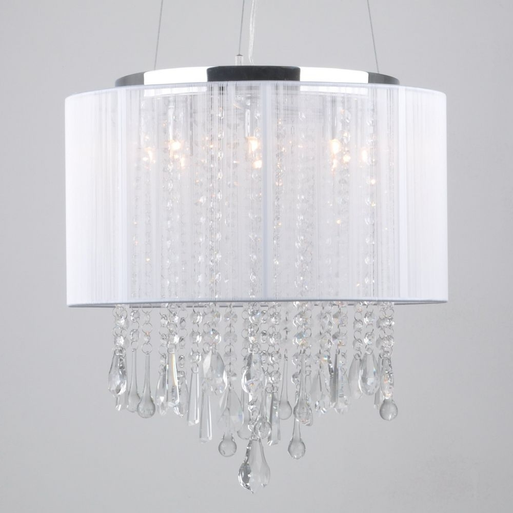 Pleasant Idea Lamp Shades With Crystals Shade Hanging Black In Well Known Drum Lamp Shades For Chandeliers (View 11 of 20)