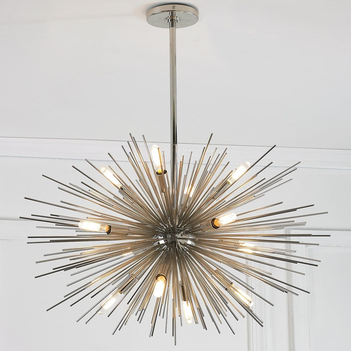 Polished Nickel For Modern Chandelier (View 15 of 20)