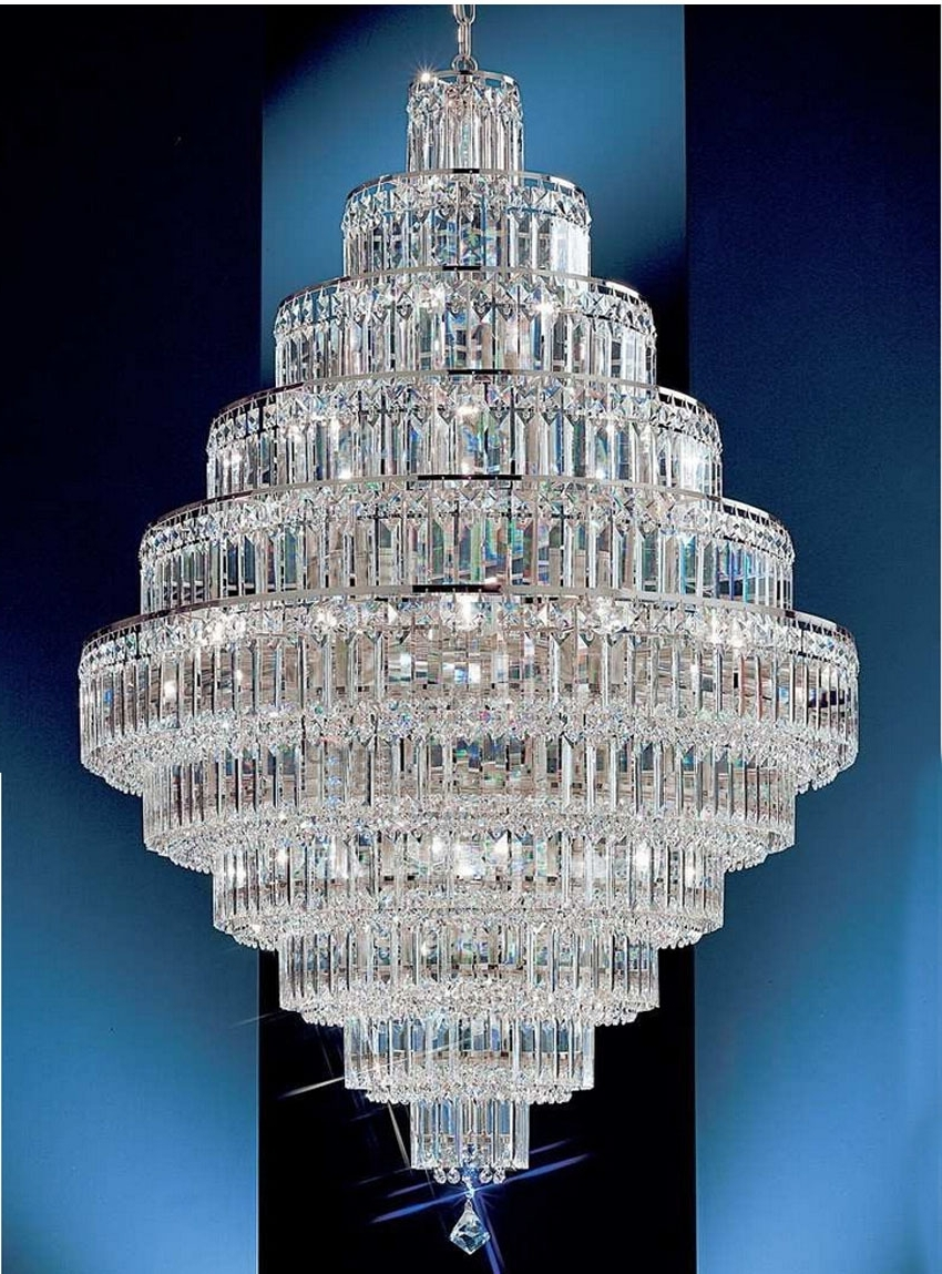Popular Big Crystal Chandelier Intended For Chandeliers Design : Marvelous Large Font Crystal Chandeliers Modern (View 16 of 20)