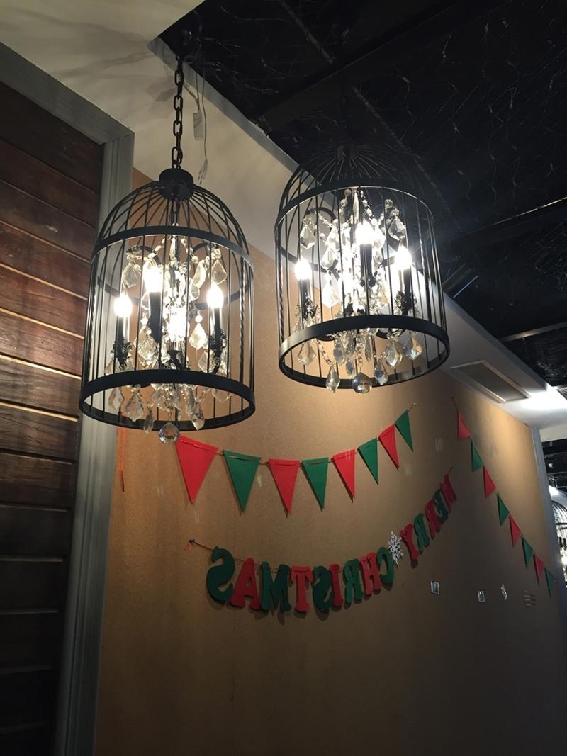 Popular Black Birdcage Chandelier Indoor Lighting Industrial Chandelier Regarding Restaurant Chandeliers (View 17 of 20)