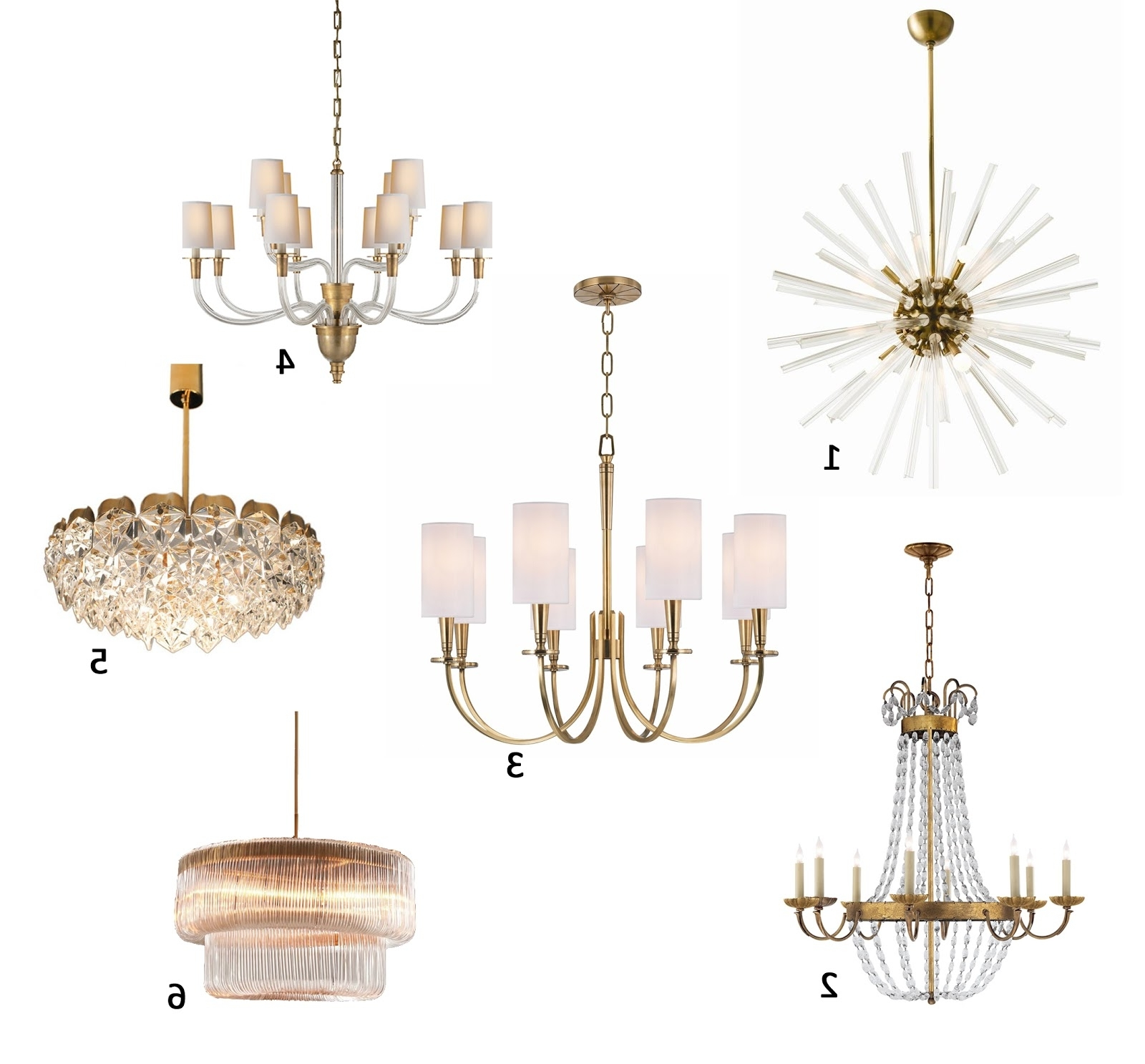 Popular Brass Chandeliers For Am Dolce Vita: A Roundup Of My Favourite Brass Chandeliers (View 13 of 20)
