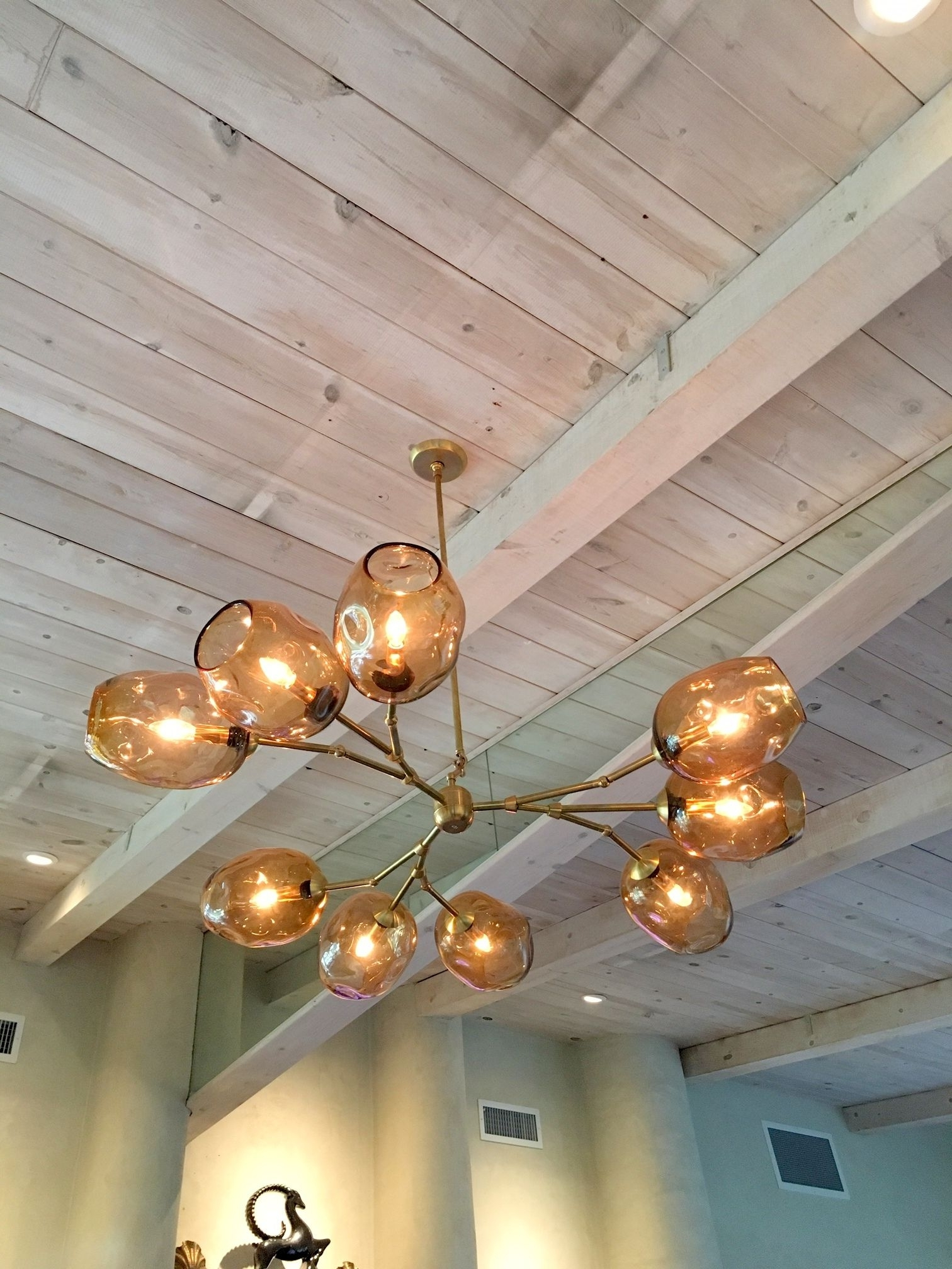 Popular Chandelier Globe Pertaining To Custom Staccato Branch Globe Chandelier In Light Amberprovidence (View 17 of 20)