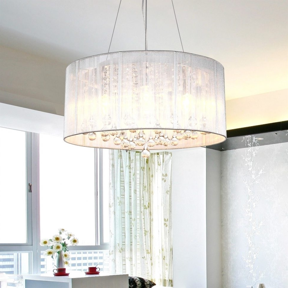 Popular Chandeliers Design : Awesome Chandelier Lamp Shades Glass With Large Regarding Chandeliers With Lamp Shades (View 9 of 20)