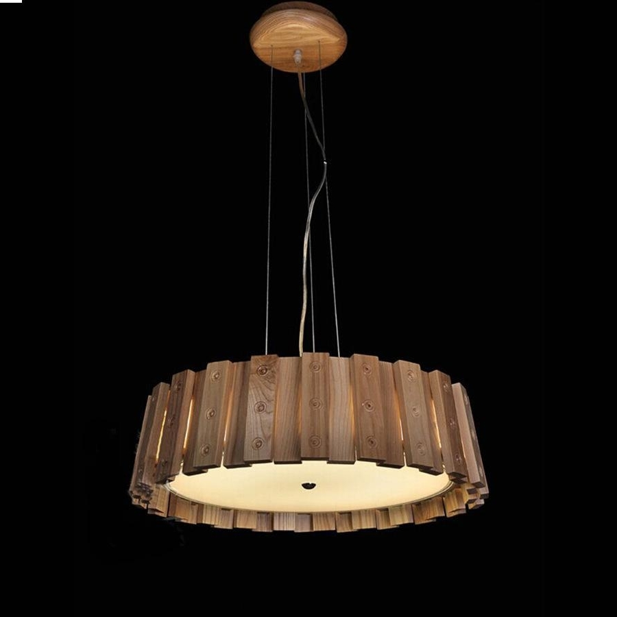 Popular Chinese Chandelier For Chandelier,the New Chinese Modern Minimalist Wood Casks Creative (View 13 of 20)