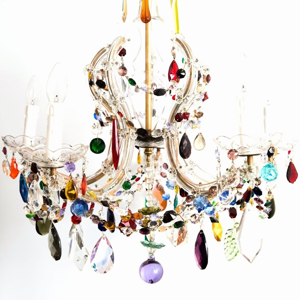 Popular Coloured Chandeliers For Multi Coloured Acrylic Chandeliers – Chandelier Designs (View 17 of 20)