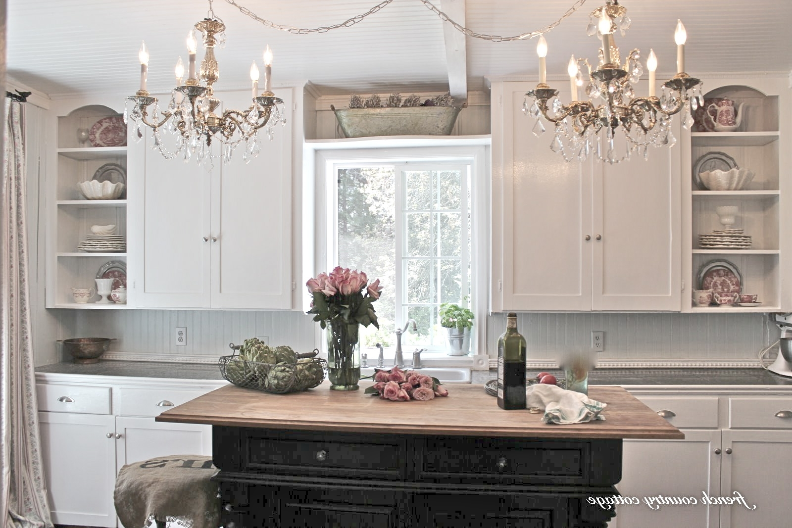 Popular Creating Open Shelves In The Kitchen – French Country Cottage Pertaining To French Country Chandeliers For Kitchen (View 17 of 20)