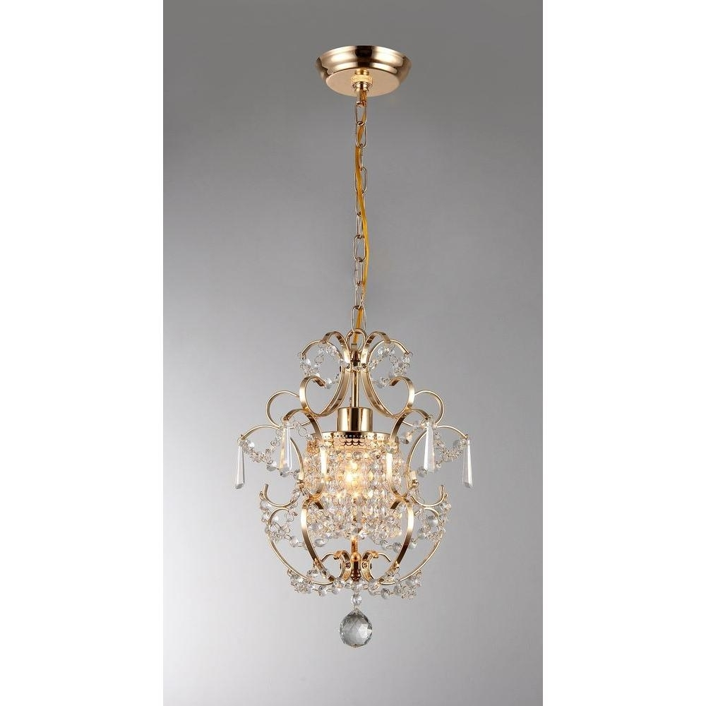 Popular Crystal Gold Chandeliers With Emily 11 In (View 19 of 20)
