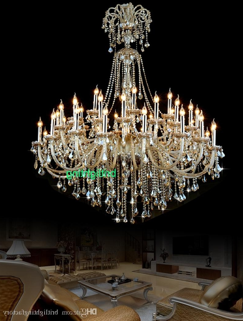 Popular Extra Large Crystal Chandelier Lighting Entryway High Ceiling Pertaining To Big Crystal Chandelier (View 17 of 20)