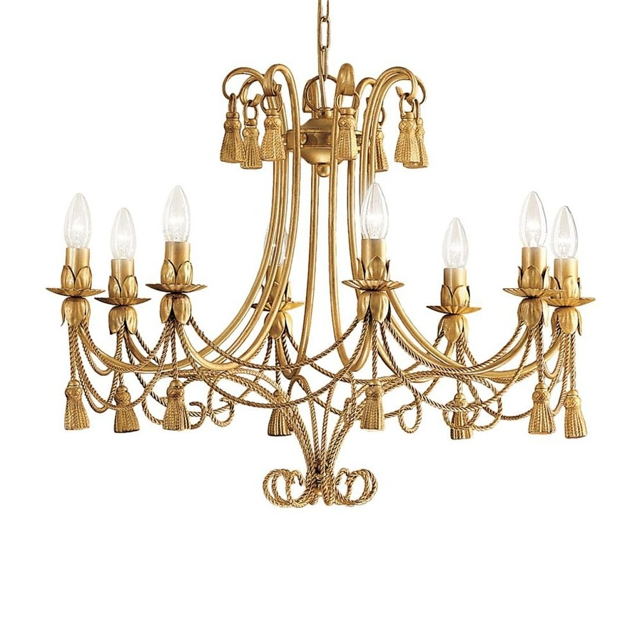 Popular French Gold Chandelier Pertaining To Shop Classic Lighting Rope And Tassel 28 In 8 Light French Gold (View 16 of 20)