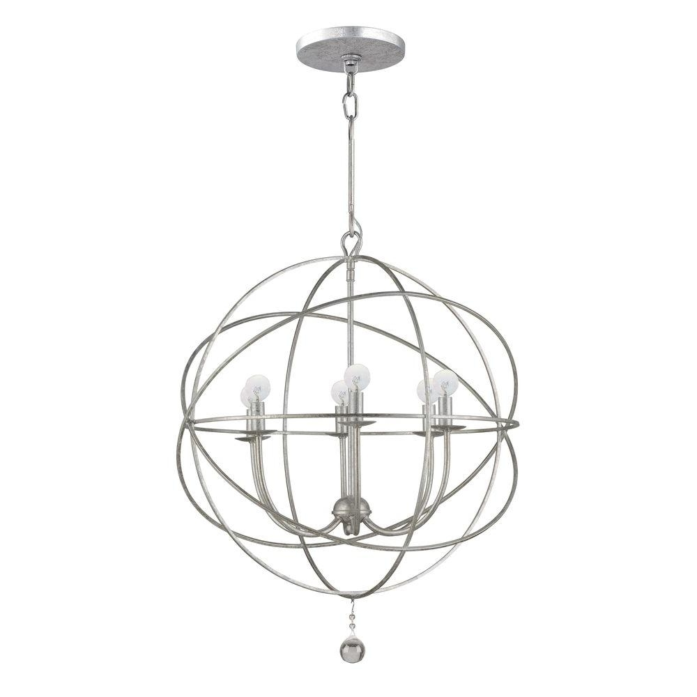 Popular Home Decorators Collection Solaris Collection 6 Light Olde Silver Inside Orb Chandeliers (View 18 of 20)