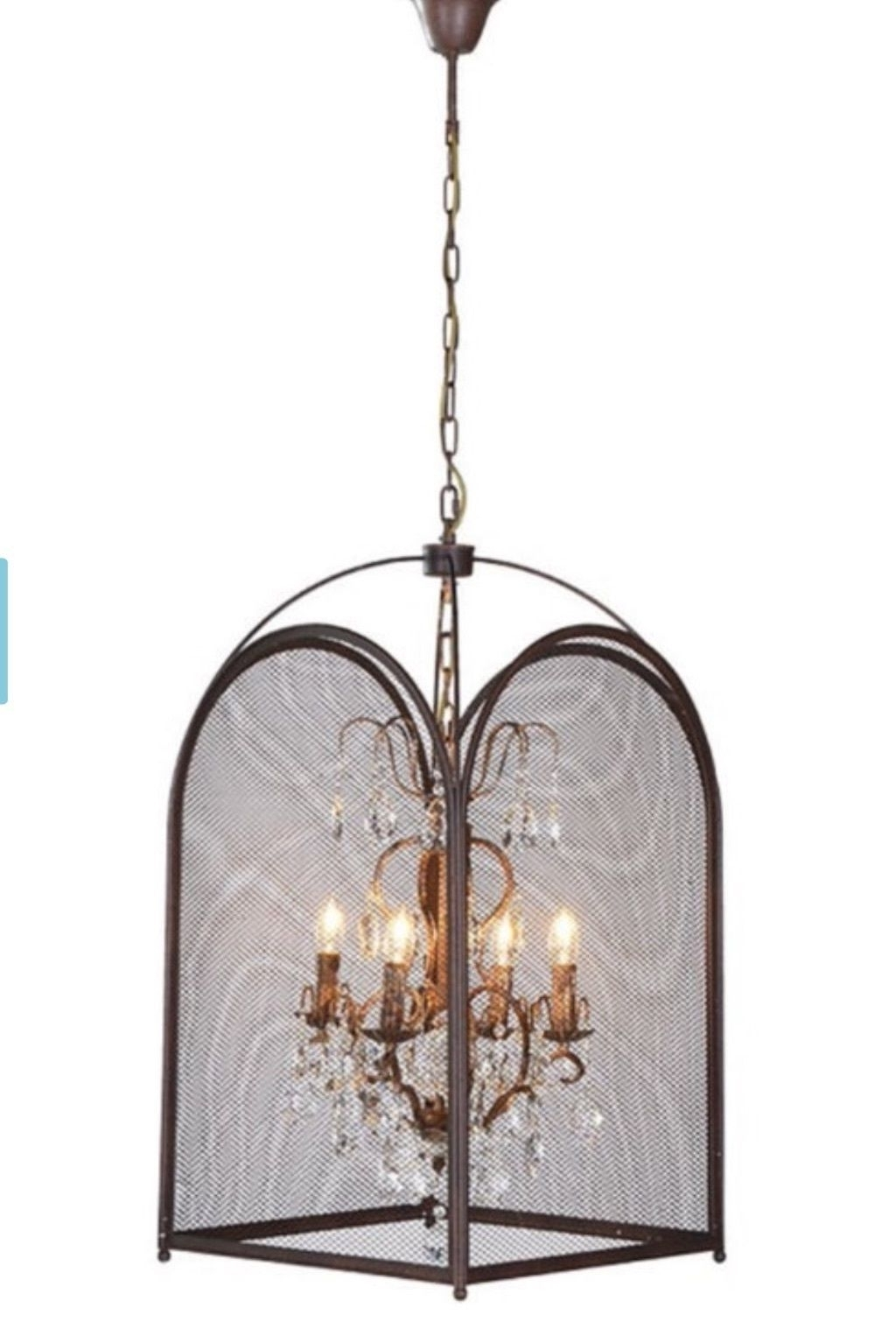 Popular Large Statement Birdcage Vintage Industrial Shabby Chic Caged Intended For Caged Chandelier (View 16 of 20)