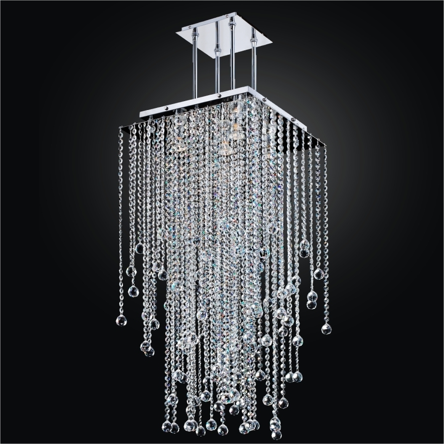 Popular Long Chandelier Within Long Crystal Chandelier – Square Crystal Chandelier (View 15 of 20)