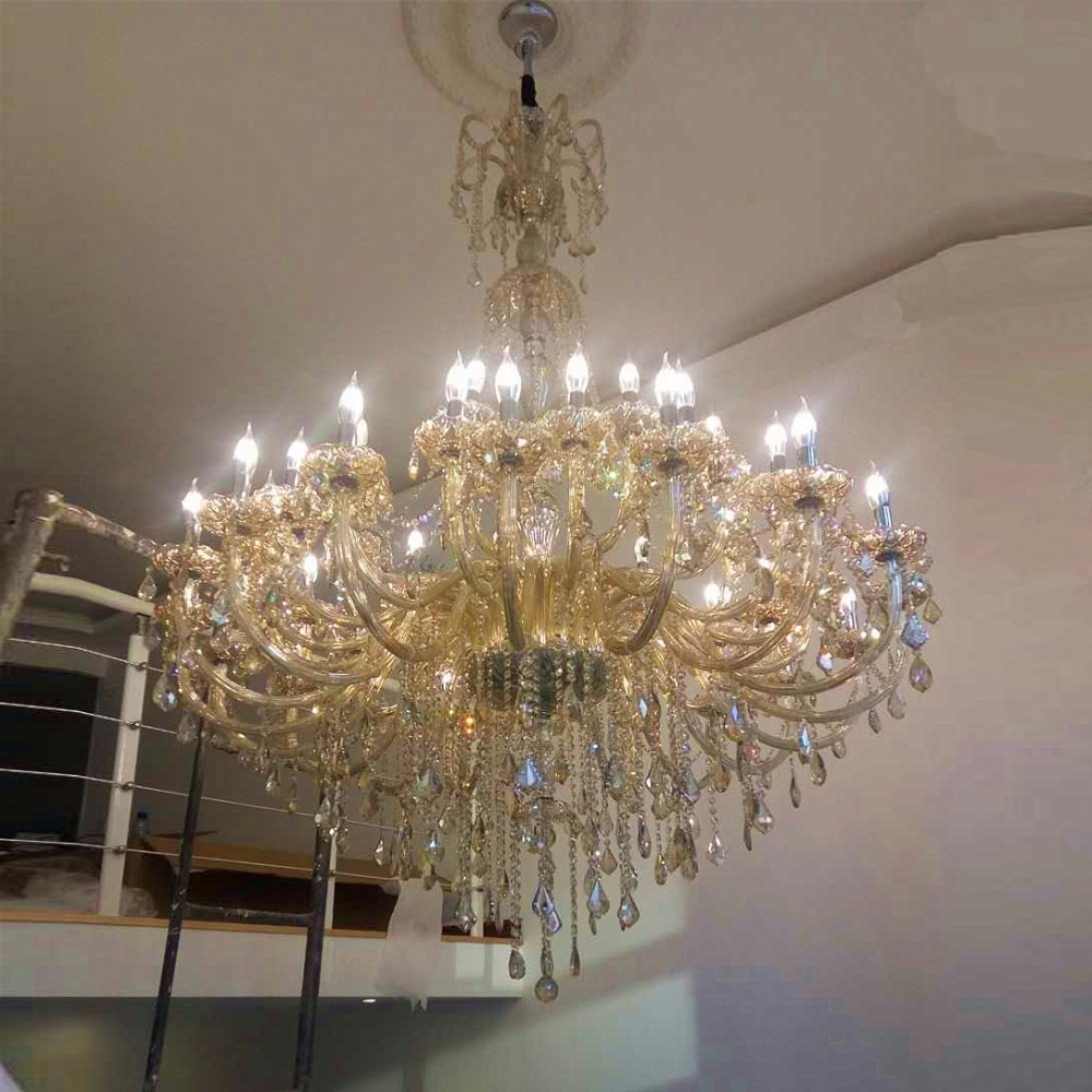 Popular Modern Large Chandeliers In Large Chandelier For Living Room Modern Crystal Chandeliers Large (View 8 of 20)