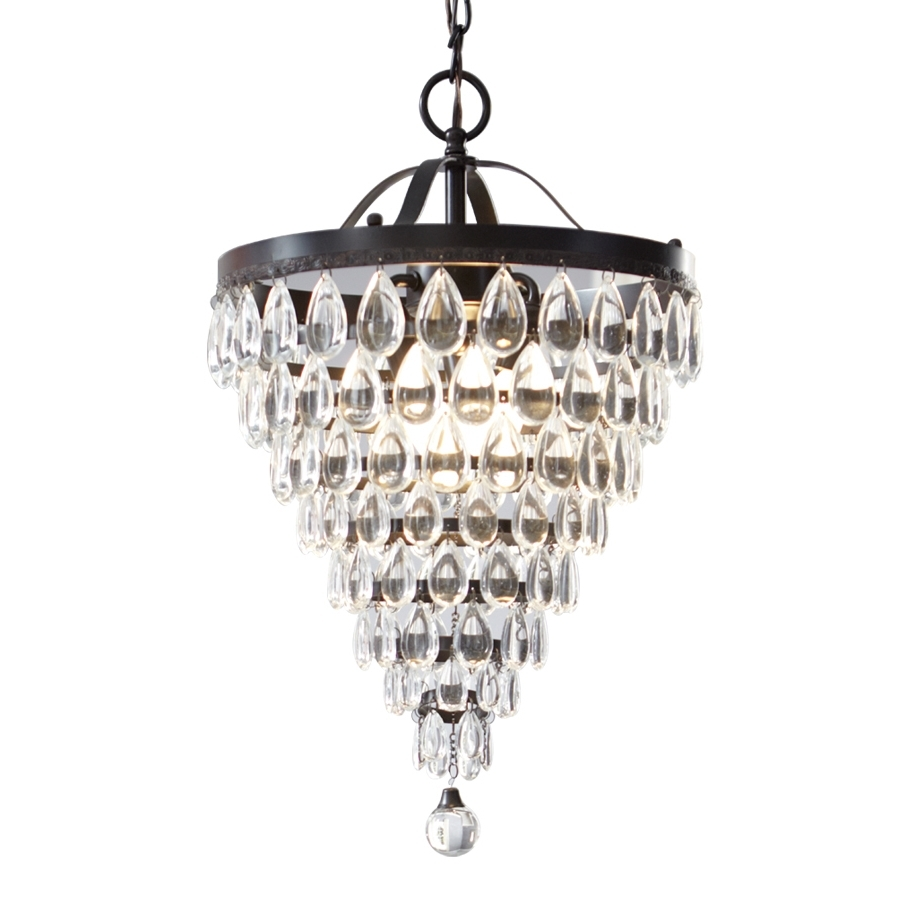 Popular Shop Style Selections 3 Light Antique Bronze Crystal Chandelier At With Regard To Small Bronze Chandelier (View 14 of 20)